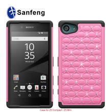 For Sony Xperia z5 compact Z5 mini case cover rugged mobile phone 3 in 1 layer hybrid shockproof armor case