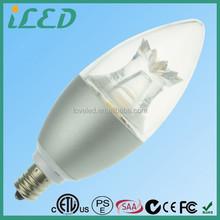 GE 5W 120V E12 Frosted 3000k LED Energy Smart Candelabra Light Bulb with ETL