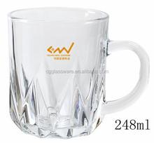 wholesale machine press elegent mug beer glass / cheap water glass/juice glass mug