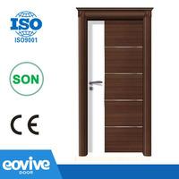 2015 new design mdf PVC wood bedroom door price
