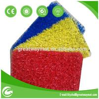 red artificial grass