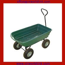 Heavy Duty Dump 4 wheel Mobile plastic garden trolley