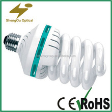 spiral shape T4 energy saving lamps,2700K/6400K 28W lamps diameter 12mm