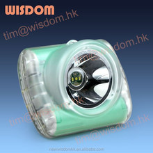 WISDOM LAMP 3 Tunnelling Cordless Cap Lamp/Helmet Light/Rechargeable LED Miner Light With MSHA,ATEX,CE,IP68
