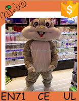 2015 hot sale adult plush animal walking rabbit cartoon costume for advertising made in china