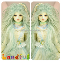 3.5'' Long Wholesale Mint Green Softy DIY Cosplay Wigs Doll Hair Wigs