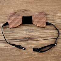 Top Quality Wood Adjustable Bowtie Boys Bow Ties Party Bowtie