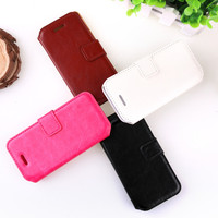 Eco-Friendly leather case with window for iphone 5