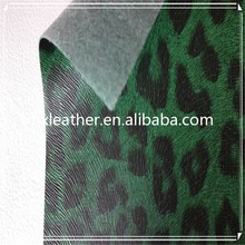 Leopard print hard PU synthetic leather for phone case making DH352
