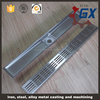 Stainless steel Side outlet linear drain grates/linear shower drain grates/linear floor drainage