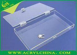 2015 Transparent small acrylic storage box, plexiglass sneaker display case, jewelry boxes wholesale China