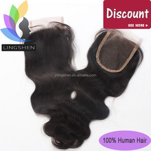 Wholesale Human Hair Body Wave Lace Closure Brazilian Virgin Hair 4*4 Top lace Closure