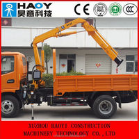 knuckle boom crane truck, mini truck crane for sale from china