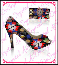Aidocrystal Latest Wholesale Top Quality italian women shoes and bag set in dress shoes with good offer