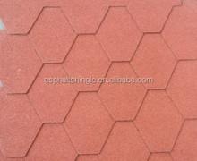 hexagonal type mosaic bitumen Roof Shingles / mosaic asphalt shingles