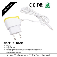 CE&Rohs certificated mobile phone accessories for apple wall charger