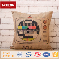 Trade Assurance Creative Vintage Pattern Printed Design Custom Cushion Home Decor Pillow Case Plastic Sofa Cushion Covers
