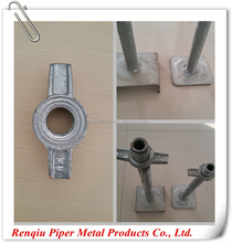 solid and hollow steel base jack for scaffolding