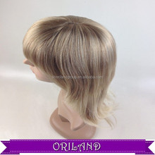 High quality fashion ladys synthetic women natural wigs and hairpiece