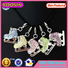 New Arrival Colorful Rhinestones Roller Skate Charm, Figure Skating Charms Pendants, Charm Jewelry #8757