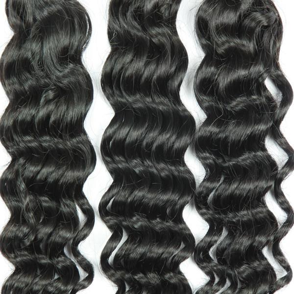 Livraison Gratuite de prix de gros vague profonde pas cher 8a péruvienne vierge cheveux