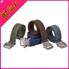 Bicyclic Buckle Belt Outdoor Western Belts Gird Leisure Canvas Unisex Student Stylish Wild Thin Braided Width 3.8cm Belt