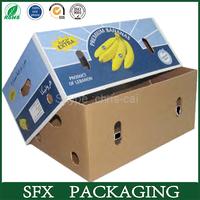 China supplier banana carton box,corrugated carton,used corrugated carton box making machine