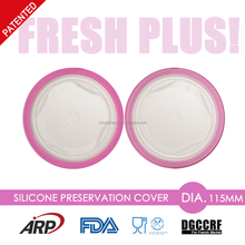 Dia.11.5cm Silicone Preservation Cover, Cap, for Bottle Cup, Bowl, Dishes, Plate, Pot, Container, Different Size, BPA Free, LFGB