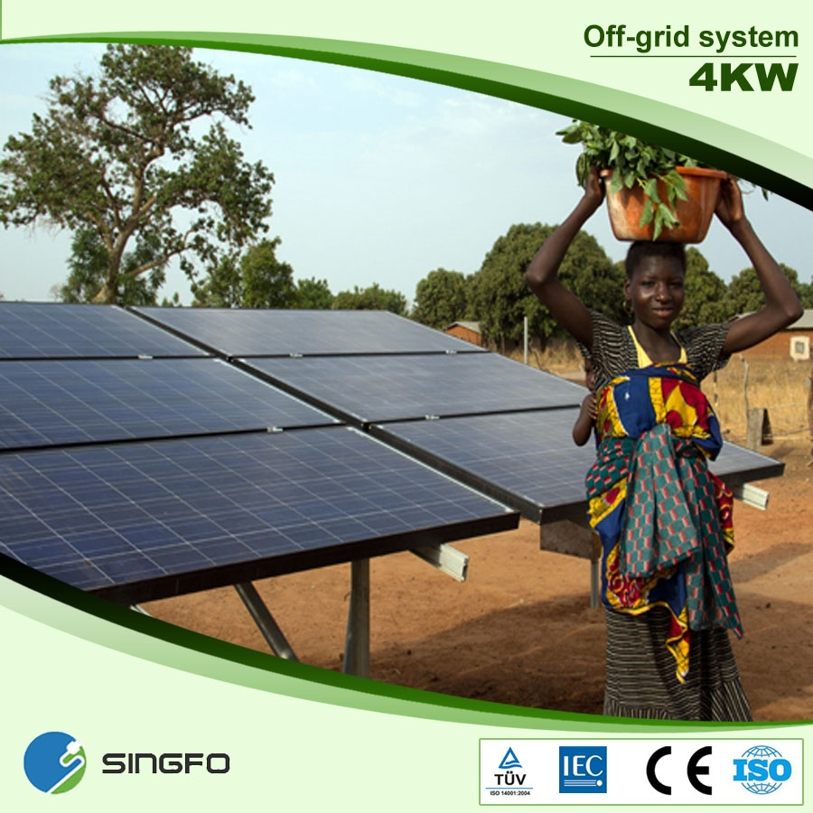 4kw Off Grid Ground Mounted Solar Power Energy System For
