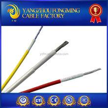 180deg.C Silicone fiber rubber cable