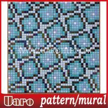 bath room decorate foshan tile 20mm waterjet mosaic pattern