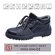 Oil and slip resistant men steel toe and steel plate safety shoes