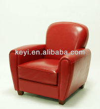 Home furniture use single seat leather sofa chair/leather armchair(KS-7026)