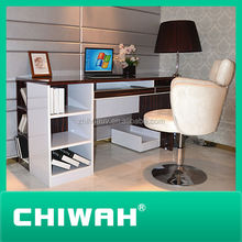 2014 new design hot sale study table and cabinet customized