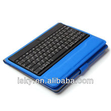 Blue Promotional Wireless Bluetooth Keyboard Folio Leather Case Cover Magnetic Smart Stand for iPad 2 New Apple iPad 3 3rd Gen