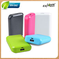 Portable Charger High Capacity 6000mah External Battery Power Bank with gold shell for Cell Phones,iPhone,iPod,GPS