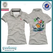 Venta al por mayor señora de polo de bordar camisas camisas con alta calidad