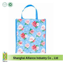Beautiful Flower Full Printing Non-Woven Gift Shopping Bag