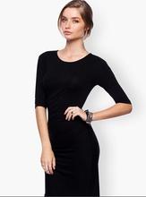 las mujeres cómodo negro de manga medio oficina imágenes de vestir para damas