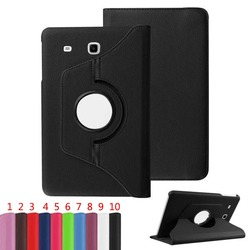 360 Rotating PU Leather Flip Smart Case Cover For Samsung Galaxy Tab E T560