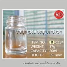 20ml 24ml 28ml clear empty nail polish glass bottle