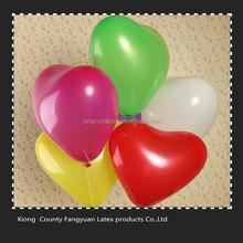 2016 12inch hebei factory cheap heart shaped balloons
