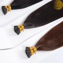 2015 factory price Italy glue extensions I tip 100% virgin Brazilian human hair pre-bonded keratin tip fusion hair extension