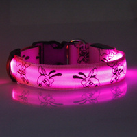 High quality pet products 6 colors 3 size SML led dog collar