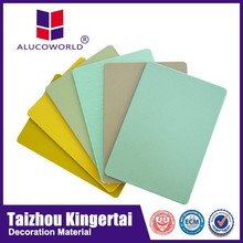 Alucoworld wall paneling decorate glass door / wood pvdf coating wall cladding Aluminum composite panel(ACP)