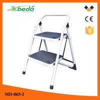 Easy store hot selling wide step folding iron ladder aldi (MD-865-2)