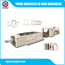 KTPM-B4 Fully automatic paper bag making machine with handle in line