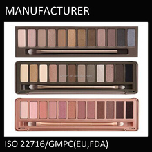 12 colors eye makeup naked eye shadow palette with brush