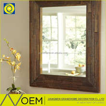 China Supplier beautiful Standing wooden framed mirror