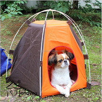 300D axford polyester foldable cat pet tent for dog waterproof pet cage
